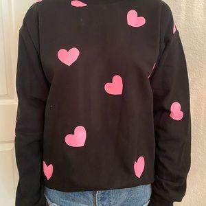 Tops - Pink heart sweatshirt